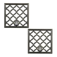 Elements by Pfaltzgraff® Plastic Wall Lattice Sconces (Set of 2)