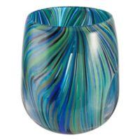 Museum Of Fine Arts 5.9-Inch x 6.9-Inch Glass Votive Holder in Blue/Purple