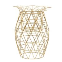 Elements Metal Pineapple 14-Inch x 20-Inch Candleholder