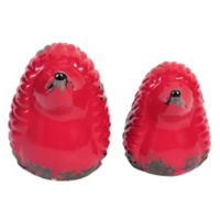 Elements Ceramic Hedgehogs in Red (Set of 2)