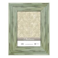 Chateau 5-Inch x 7-Inch Picture Frame in Distressed Green