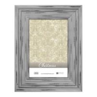 Chateau 8-Inch x 10-Inch Picture Frame in Distressed Grey