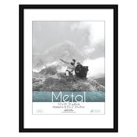 Aluminum 9-Inch x 12-Inch Matted Picture Frame in Black
