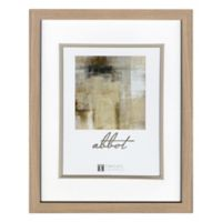 Abbot 5-Inch x 7-Inch Matted Picture Frame in Oak