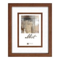 Abbot 5-Inch x 7-Inch Matted Picture Frame in Walnut