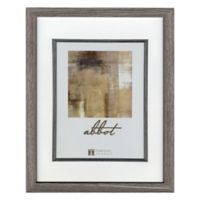 Abbot 5-Inch x 7-Inch Matted Picture Frame in Grey
