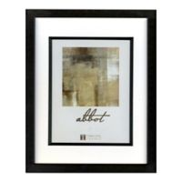 Abbot 5-Inch x 7-Inch Matted Picture Frame in Black