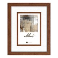 Abbot 8-Inch x 10-Inch Matted Picture Frame in Walnut