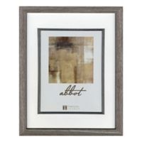 Abbot 8-Inch x 10-Inch Matted Picture Frame in Grey
