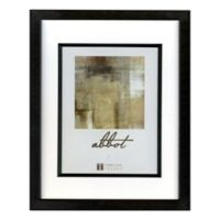 Abbot 8-Inch x 10-Inch Matted Picture Frame in Black