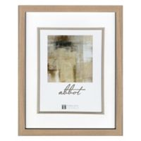 Abbot 11-Inch x 14-Inch Matted Picture Frame in Oak