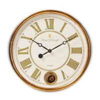 Baxton Studio Alexandre 23-Inch Wall Clock in Antique Gold