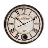 Baxton Studio Didier 23-Inch Wall Clock in Matte Black