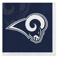 NFL 48-Pack Los Angeles Rams Beverage Napkins in Navy