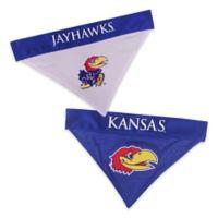 University of Kansas Large/Extra Large Reversible Pet Collar Bandana