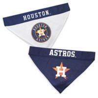 MLB Houston Astros Large/Extra Large Reversible Pet Collar Bandana