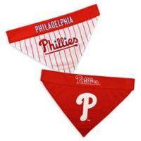 MLB Philadelphia Phillies Large/Extra Large Reversible Pet Collar Bandana