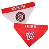 MLB Washington Nationals Large/Extra Large Reversible Pet Collar Bandana