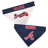 MLB Atlanta Braves Large/Extra Large Reversible Pet Collar Bandana
