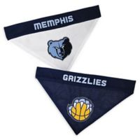 NBA Memphis Grizzlies Small/Medium Reversible Dog Bandana