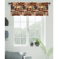 Laural Home Lodge Collage Window Valance in Brown