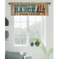 """Laural Home """"Welcome to the Ranch"""" Window Valance in Brown"""