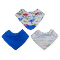 Neat Solutions® 3-Pack Boy Bandana Bibs with Teether in Blue Multi