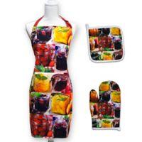 Springbok® Jellies and Jams 3-Piece Kitchen Apron, Potholder, and Oven Mitt Set