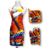 Springbok® Butterfly Cookies 3-Piece Kitchen Apron, Potholder, and Oven Mitt Set