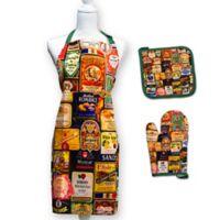 Springbok® Off the Vine 3-Piece Kitchen Apron, Potholder, and Oven Mitt Set