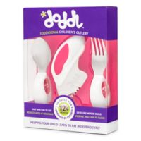 Doddl 3-Piece Child Cutlery Set in Raspberry Pink