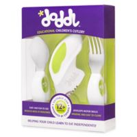 Doddl 3-Piece Child Cutlery Set in Lime Green