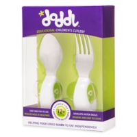 Doddl 2-Piece Child Cutlery Set in Lime Green
