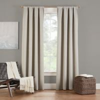 Eclipse Twilight Luna 84-Inch Rod Pocket Room Darkening Window Curtain Panel in Ivory
