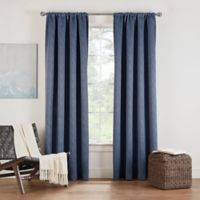 Eclipse Twilight Luna 72-Inch Rod Pocket Room Darkening Window Curtain Panel in Indigo