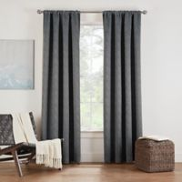 Eclipse Twilight Luna 72-Inch Rod Pocket Room Darkening Window Curtain Panel in Charcoal