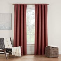 Eclipse Twilight Luna 95-Inch Rod Pocket Room Darkening Window Curtain Panel in Cinnamon
