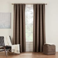 Eclipse Twilight Luna 54-Inch Rod Pocket Room Darkening Window Curtain Panel in Coffee