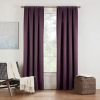 Eclipse Twilight Luna 84-Inch Rod Pocket Room Darkening Window Curtain Panel in Plum