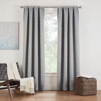 Eclipse Twilight Luna 108-Inch Rod Pocket Room Darkening Window Curtain Panel in Grey