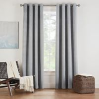 Eclipse Twilight Luna 108-Inch Grommet Room Darkening Window Curtain Panel in Grey