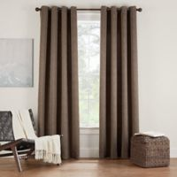 Eclipse Twilight Luna 54-Inch Grommet Room Darkening Window Curtain Panel in Coffee