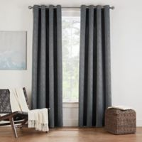 Eclipse Twilight Luna 54-Inch Grommet Room Darkening Window Curtain Panel in Charcoal