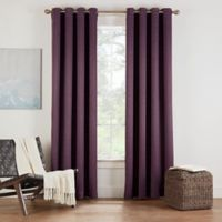 Eclipse Twilight Luna 54-Inch Grommet Room Darkening Window Curtain Panel in Plum
