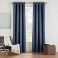 Eclipse Twilight Luna 63-Inch Grommet Room Darkening Window Curtain Panel in Indigo