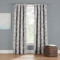 Eclipse Twilight Luna Printed 84-Inch Rod Pocket Window Curtain Panel in Stone