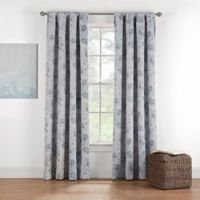 Eclipse Twilight Luna Printed 54-Inch Rod Pocket Window Curtain Panel in Spa
