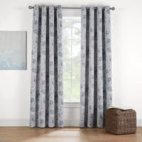 Eclipse Twilight Luna Floral 63-Inch Grommet Room Darkening Window Curtain Panel in Spa