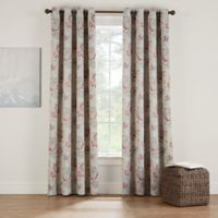 Eclipse Twilight Luna Floral 72-Inch Grommet Room Darkening Window Curtain Panel in Cinnamon