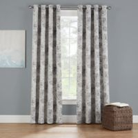 Eclipse Twilight Luna Floral 54-Inch Grommet Room Darkening Window Curtain Panel in Stone